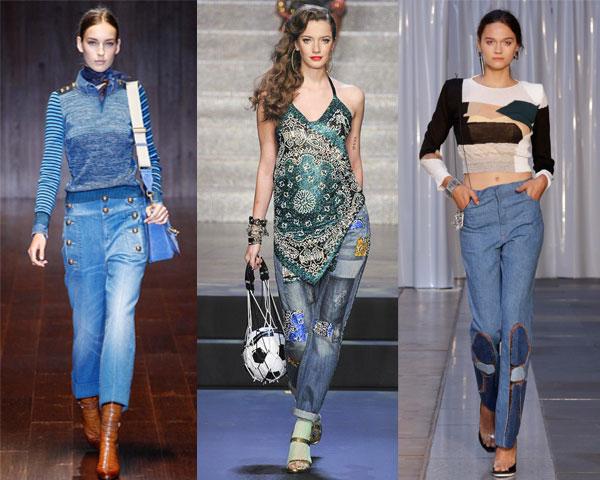 Pantaloni de blugi la moda