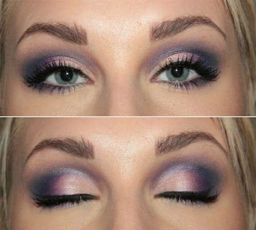 Farduri pentru machiaj ochi albastri