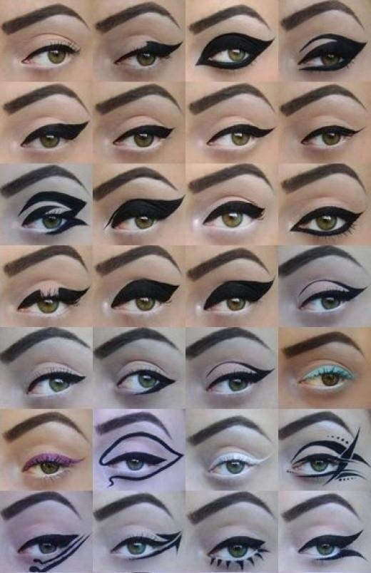 Eyeliner pentru ochi verzi