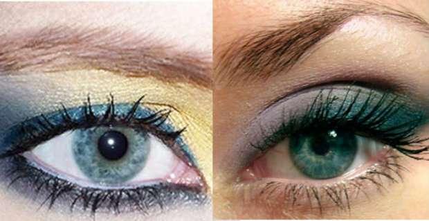 Machiaj ochi verzi-albastrui