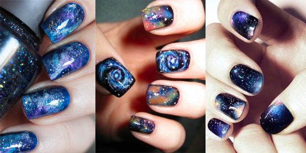 Modele manichiura cu desene cosmice