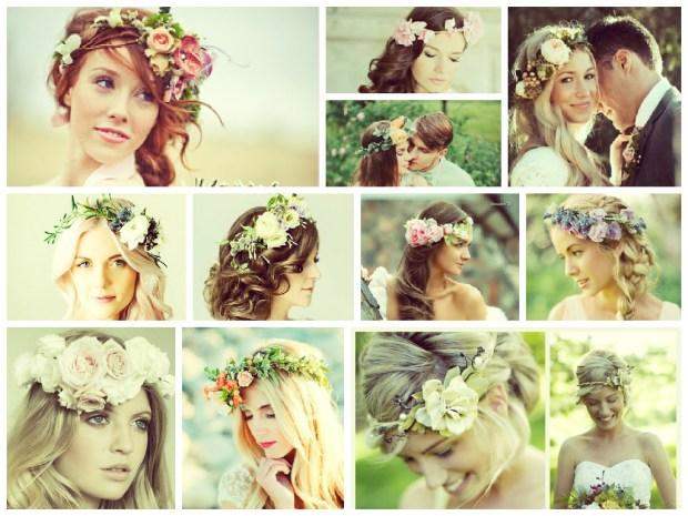 Coafuri de nunta 2015 cu flori
