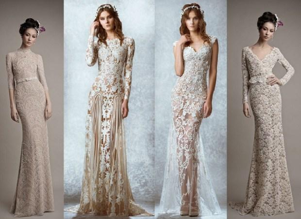Rochiile ornamentate de mireasa la moda