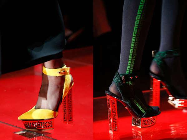 cu toc inalt Versace