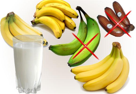 2 Dieta cu banane si lapte