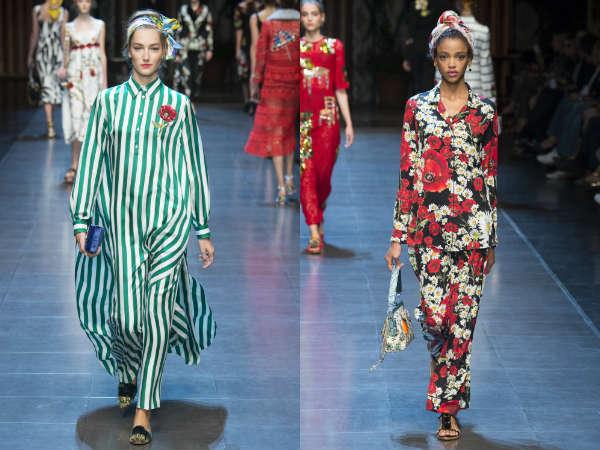 Pantaloni dama primavara vara 2016: imprimeuri