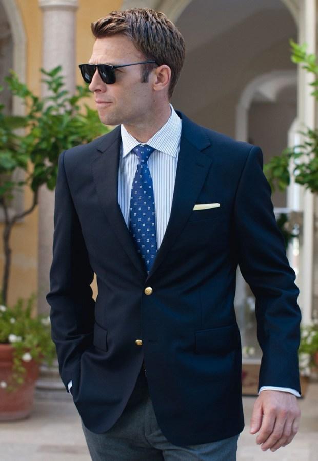 Cravate albastra pentru barbati