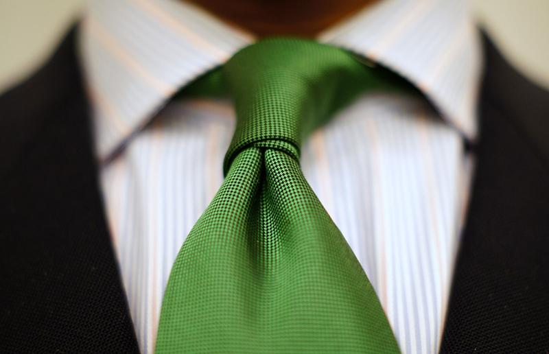 Cravate verde la moda