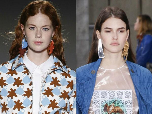 Cercei asimetrici la moda
