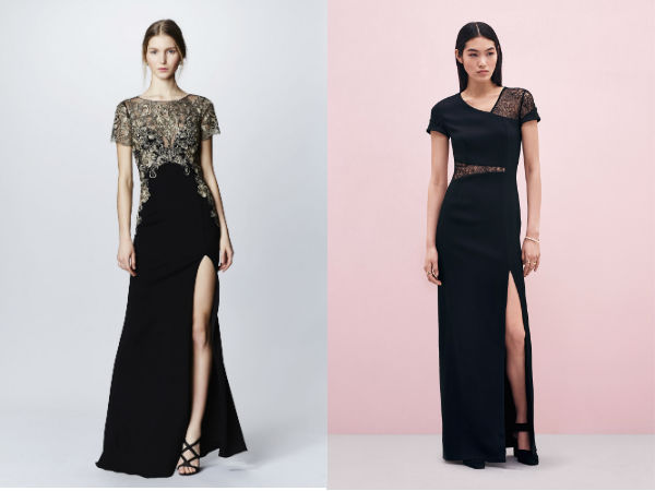 Rochie de seara neagra lunga pana in pamant
