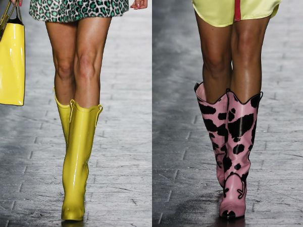Cizme de cauciuc la moda