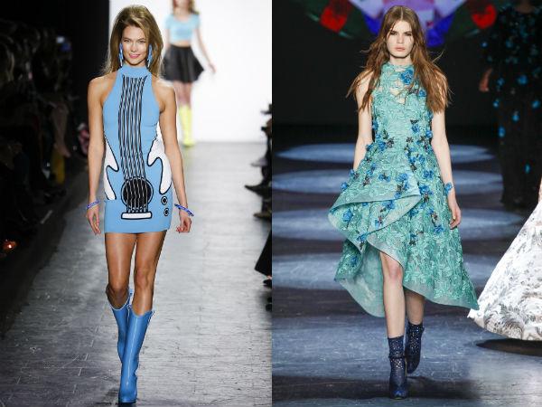 Culoarea albastra la moda toamna iarna 2016 2017