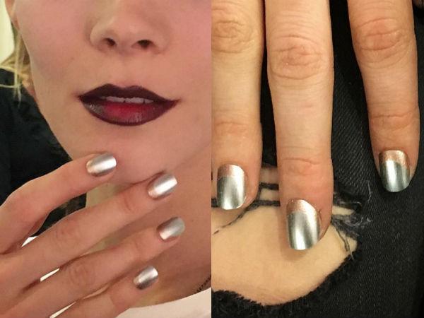 Modele unghii argintii cu gel