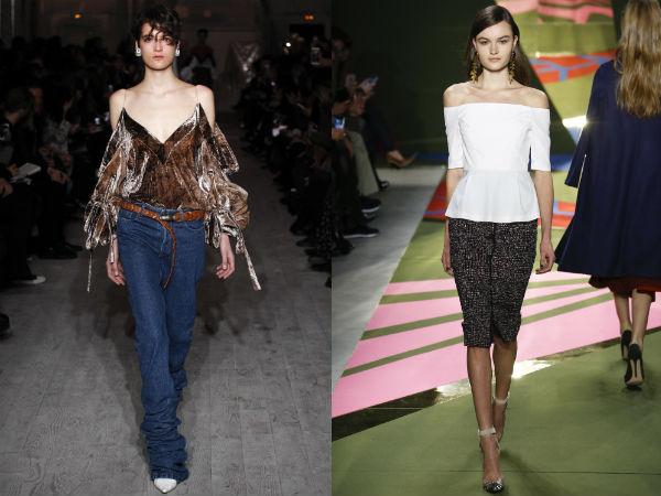 Tendinte moda dama toamna 2016 iarna 2017: umerii goi si mainile dezgolite