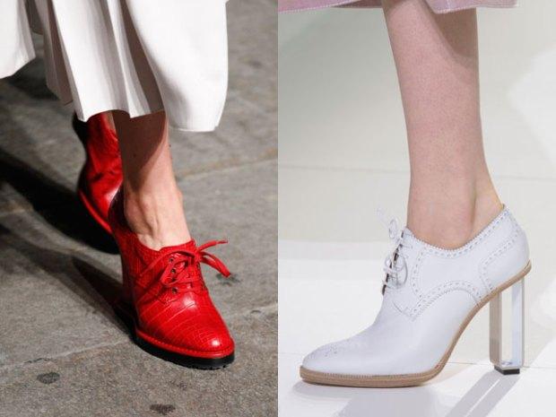 Pantofi dama 2017 primavara vara cu sireturi