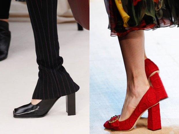Pantofi 2017 cu toc inalt si masiv