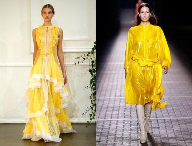 Saptamana modei de la Londra primavara vara 2017: culoarea galbena