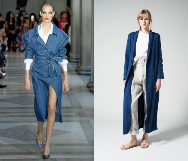 Palton denim la moda
