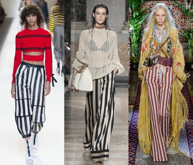 Pantaloni la moda 2017 cu dungi verticale