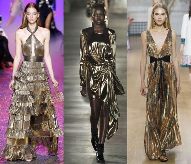 Metalic auriu la moda