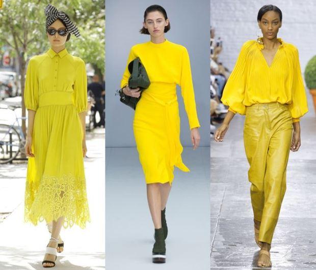 Culoarea galbena la moda primavara vara 2017