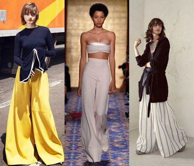 Modele pantaloni largi primavara vara 2017