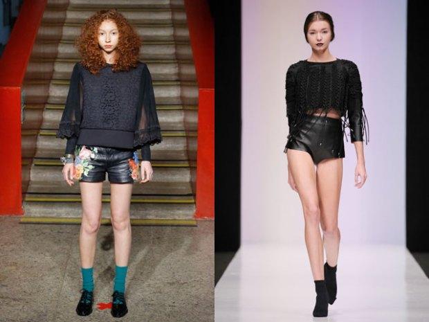 Pantaloni scurti din piele 2017