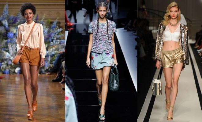 Pantaloni scurti la moda primavara-vara 2017