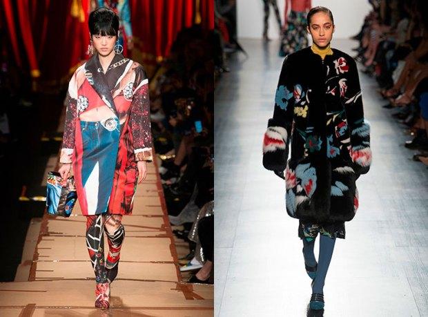 Paltoane cu imprimeuri la moda 2018