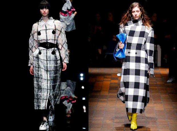 Trenciuri in carouri la moda