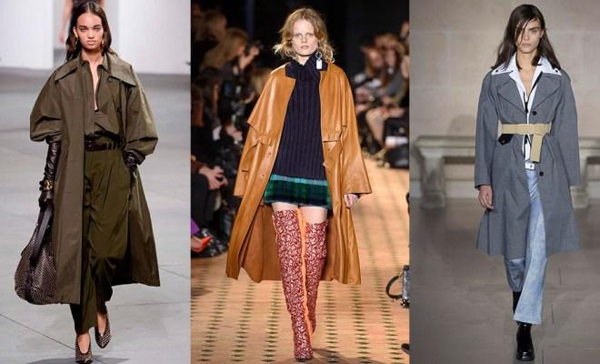 Trenciuri la moda toamna-iarna 2017-2018