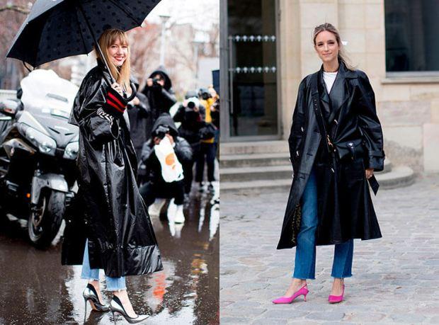 Trenciuri din piele la moda