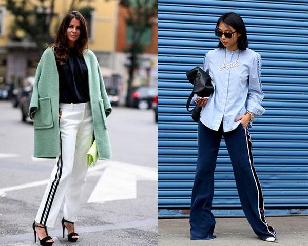 Pantaloni dama cu dungi verticale