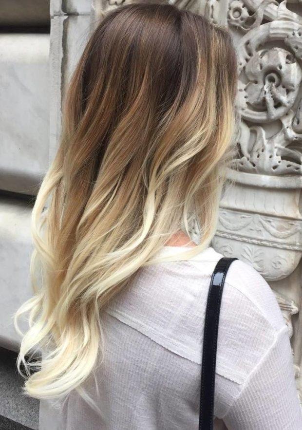 Balayage par blond
