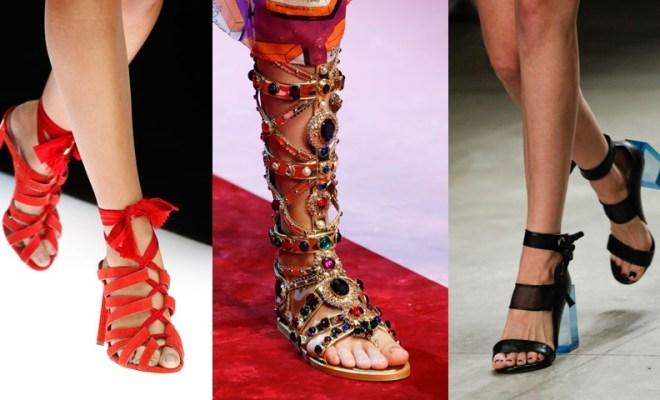 Sandale la moda primavara-vara 2018