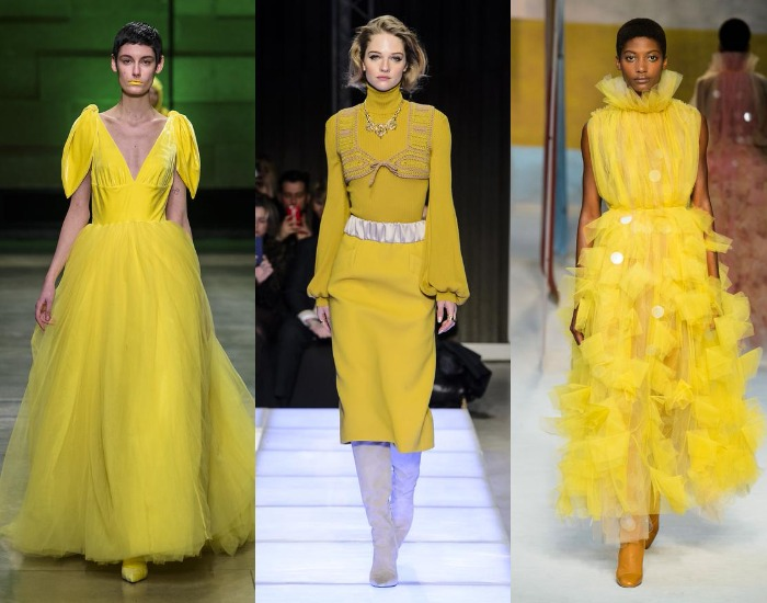 Rochii galbene la moda