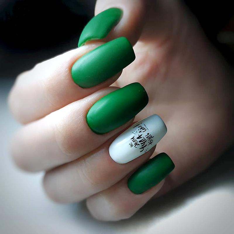 oja mata culoare verde