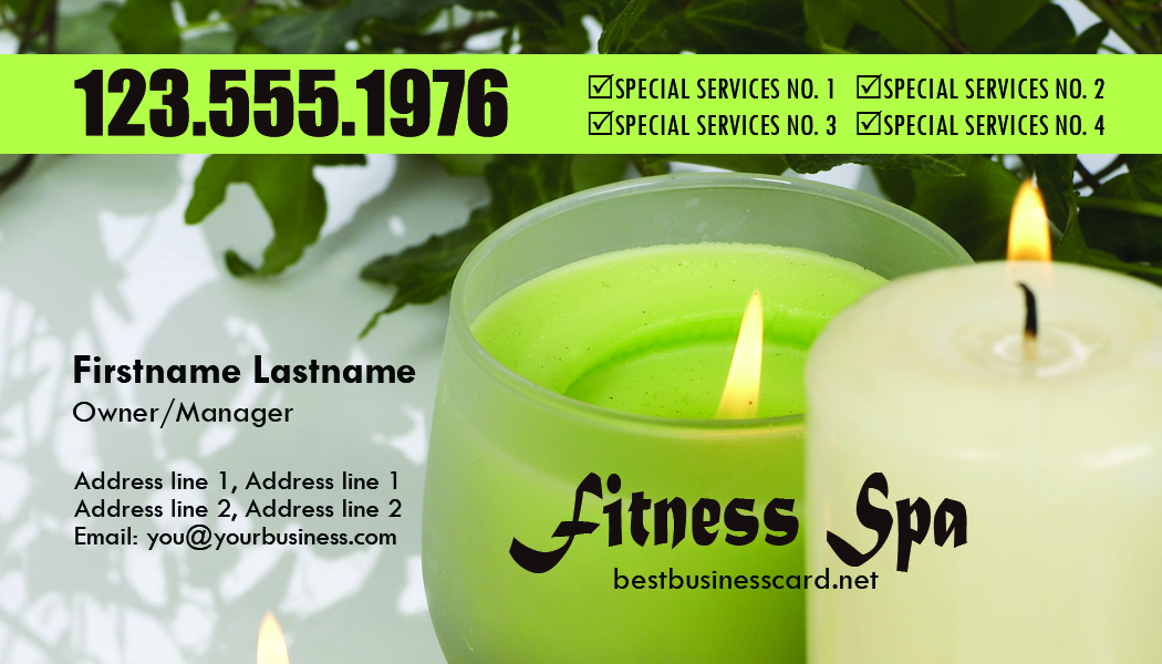 massage business card