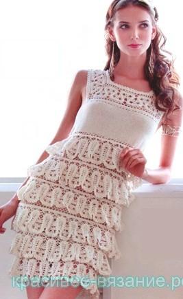 Платье брюггским кружевом