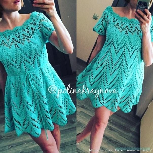 платье крючком женское