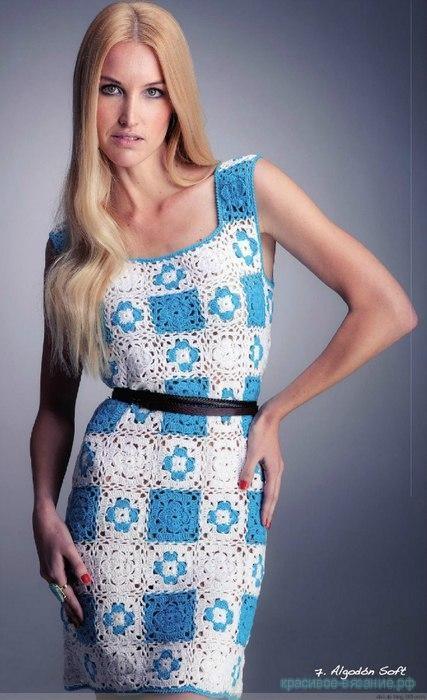 Классное платье крючком.
