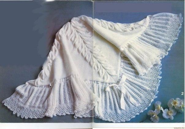 Красивая шаль спицами