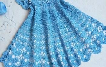 Вяжем платье крючком для девочки