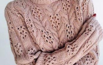 чудесный узор для вязания свитера спицами