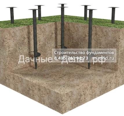 Виды фундамента для дома, бани 4