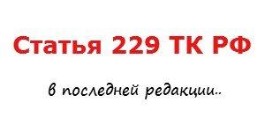 статья 229 тк рф