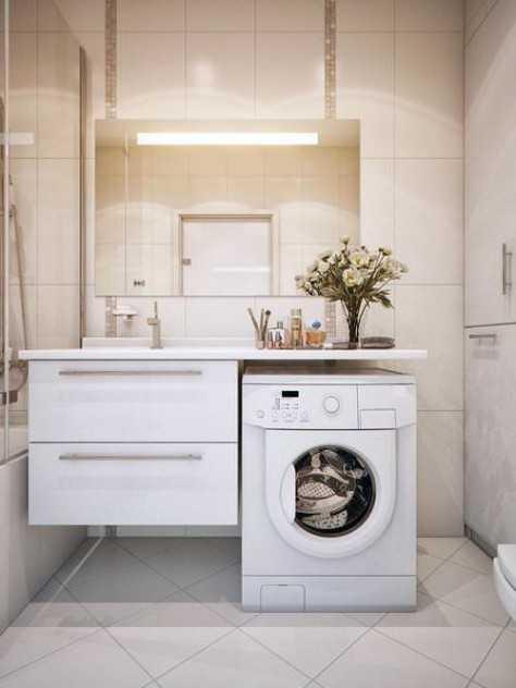 Стиральная машина встроенная под раковину в ванной фото ...