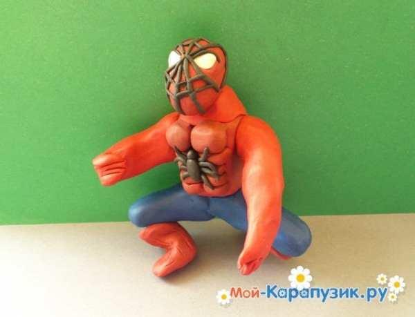 Человека паука лепить из пластилина – Как слепить из ...