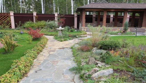 Ландшафтный дизайн двора из камня фотогалерея Ремонт и
