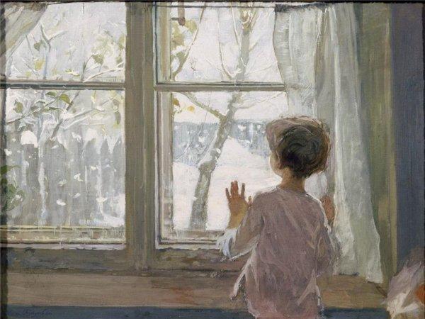 """Сочинение: описание картины С. А. Тутунова """"Зима пришла ..."""